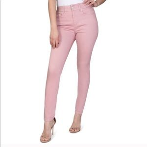 Seven7 Light Pink Tummyless High Rise Skinny Jeans